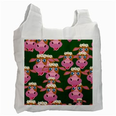 Seamless Tile Repeat Pattern Recycle Bag (two Side)