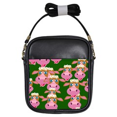 Seamless Tile Repeat Pattern Girls Sling Bags