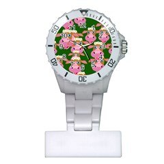 Seamless Tile Repeat Pattern Plastic Nurses Watch