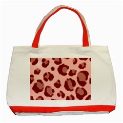 Seamless Tile Background Abstract Classic Tote Bag (red)