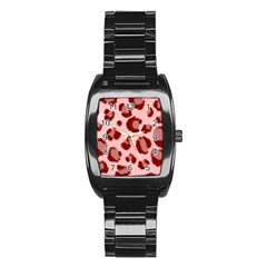 Seamless Tile Background Abstract Stainless Steel Barrel Watch