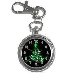 Christmas Tree Background Key Chain Watches