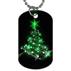 Christmas Tree Background Dog Tag (two Sides)