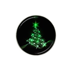 Christmas Tree Background Hat Clip Ball Marker (10 Pack)