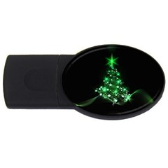 Christmas Tree Background Usb Flash Drive Oval (4 Gb)