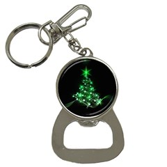 Christmas Tree Background Button Necklaces