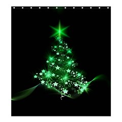 Christmas Tree Background Shower Curtain 66  X 72  (large)