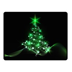Christmas Tree Background Fleece Blanket (small)