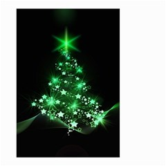 Christmas Tree Background Small Garden Flag (two Sides)