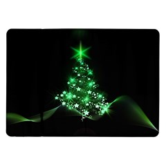Christmas Tree Background Samsung Galaxy Tab 10 1  P7500 Flip Case