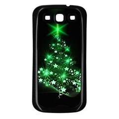 Christmas Tree Background Samsung Galaxy S3 Back Case (black)