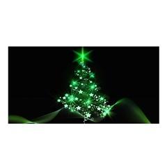 Christmas Tree Background Satin Shawl
