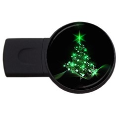 Christmas Tree Background Usb Flash Drive Round (2 Gb)