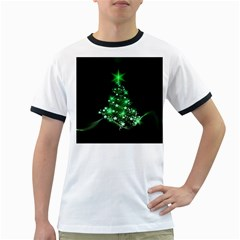 Christmas Tree Background Ringer T Shirts