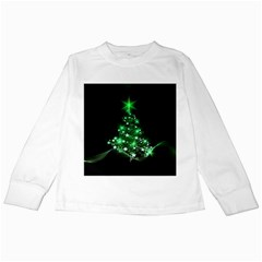 Christmas Tree Background Kids Long Sleeve T Shirts