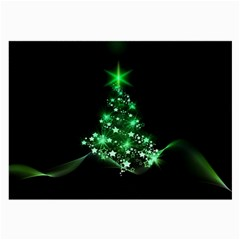 Christmas Tree Background Large Glasses Cloth (2 Side)