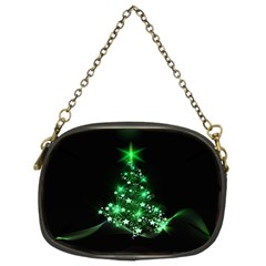 Christmas Tree Background Chain Purses (two Sides)