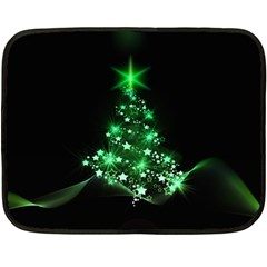 Christmas Tree Background Fleece Blanket (mini)