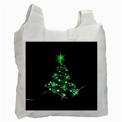 Christmas Tree Background Recycle Bag (one Side)