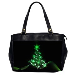 Christmas Tree Background Office Handbags (2 Sides)