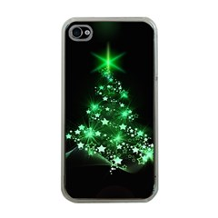 Christmas Tree Background Apple Iphone 4 Case (clear)
