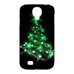 Christmas Tree Background Samsung Galaxy S4 Classic Hardshell Case (pc+silicone)
