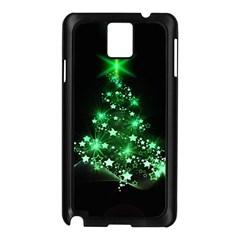 Christmas Tree Background Samsung Galaxy Note 3 N9005 Case (black)