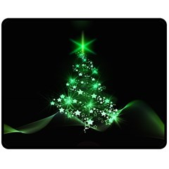 Christmas Tree Background Double Sided Fleece Blanket (medium)