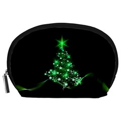 Christmas Tree Background Accessory Pouches (large)