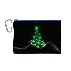 Christmas Tree Background Canvas Cosmetic Bag (m)