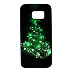 Christmas Tree Background Samsung Galaxy S7 Black Seamless Case