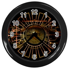 Eye Technology Wall Clocks (black)