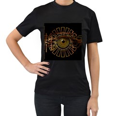 Eye Technology Women s T Shirt (black) (two Sided)
