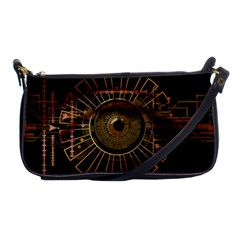Eye Technology Shoulder Clutch Bags