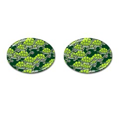 Seamless Tile Background Abstract Cufflinks (oval)