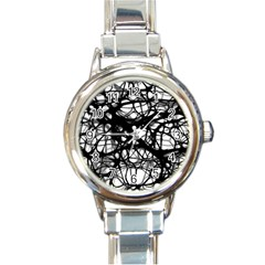 Neurons Brain Cells Brain Structure Round Italian Charm Watch