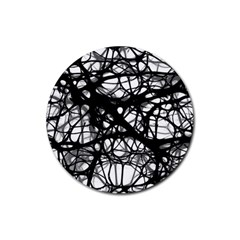 Neurons Brain Cells Brain Structure Rubber Coaster (round)
