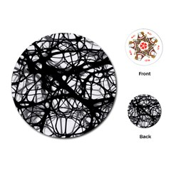 Neurons Brain Cells Brain Structure Playing Cards (round)