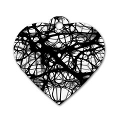 Neurons Brain Cells Brain Structure Dog Tag Heart (one Side)