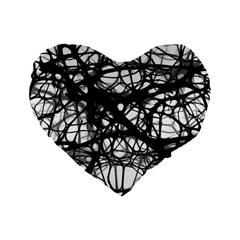 Neurons Brain Cells Brain Structure Standard 16  Premium Flano Heart Shape Cushions