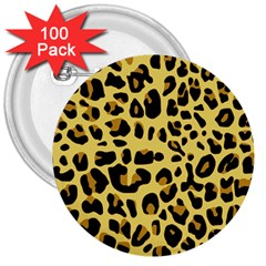 Animal Fur Skin Pattern Form 3  Buttons (100 Pack)