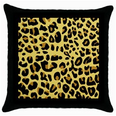 Animal Fur Skin Pattern Form Throw Pillow Case (black)