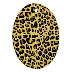 Animal Fur Skin Pattern Form Oval Ornament (two Sides)