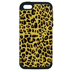 Animal Fur Skin Pattern Form Apple Iphone 5 Hardshell Case (pc+silicone)