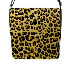 Animal Fur Skin Pattern Form Flap Messenger Bag (l)