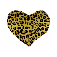 Animal Fur Skin Pattern Form Standard 16  Premium Flano Heart Shape Cushions