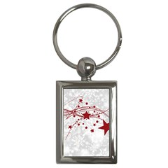 Christmas Star Snowflake Key Chains (rectangle)