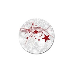 Christmas Star Snowflake Golf Ball Marker (10 Pack)