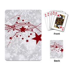 Christmas Star Snowflake Playing Card