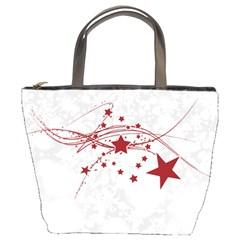 Christmas Star Snowflake Bucket Bags